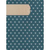 Rustic Wedding Journal Card Hearts 3x4