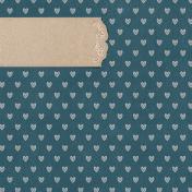 Rustic Wedding Journal Card Hearts 4x4