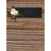 Rustic Wedding Journal Card Wood 3x4