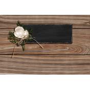 Rustic Wedding Journal Card Wood 4x6