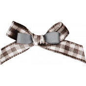 Lets Fika Element Bow Gingham