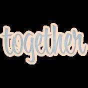 Let's Fika Together Word Art