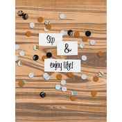 Let's Fika Enjoy Life 3x4 Journal Card