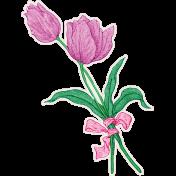 Spring Skies Mini Tulip Sticker