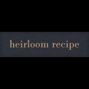 Nana's Kitchen Recipe Word Art