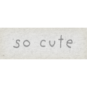Naturally Curious So Cute Word Art Snippet