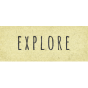 Naturally Curious Explore Word Art Snippet