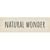 Naturally Curious Natural Wonder Word Art Snippet