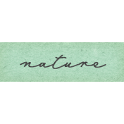 Naturally Curious Nature Word Art Snippet