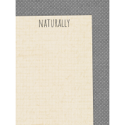 Naturally Curious Naturally 3x4 Journal Card