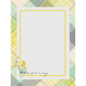 Naturally Curious Spring 3x4 Journal Card