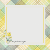 Naturally Curious Spring 4x4 Journal Card