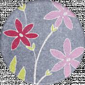 Mulberry Bush Flowers Round Sticker