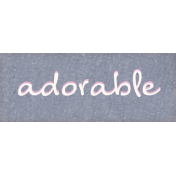 Mulberry Bush Adorable Word Art