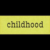Mulberry Bush Childhood Word Art