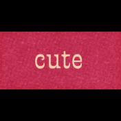 Mulberry Bush Cute Word Art