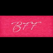 True Friends Element Word Art Snippet BFF