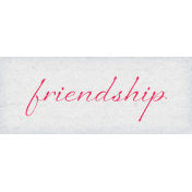 True Friends Element Word Art Snippet Friendship