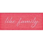 True Friends Element Word Art Snippet Like Family