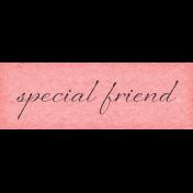True Friends Element Word Art Snippet Special Friends