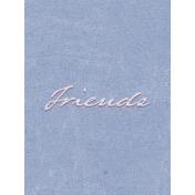 True Friend Friends 3x4 Journal Card