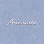 True Friend Friends 4x4 Journal Card
