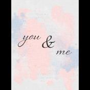 True Friend You & Me 3x4 Journal Card
