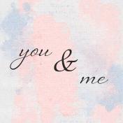 True Friend You & Me 4x4 Journal Card