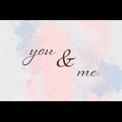 True Friend You & Me 4x6 Journal Card
