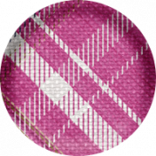 Shabby Chic Pink Plaid Button