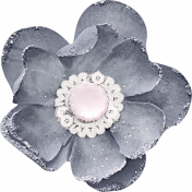 Shabby Chic Gray Flower