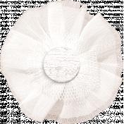 Shabby Chic White Tulle Flower