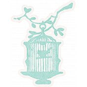 Shabby Chic Bird Cage Sticker