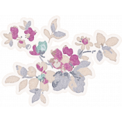 Shabby Chic Floral Sticker