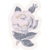 Shabby Chic Rose Sticker