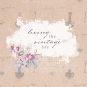 Shabby Chic Journal Card Vintage 4x4