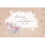 Shabby Chic Journal Card Vintage 4x6