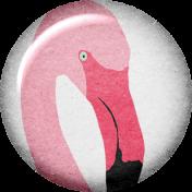 Backyard Summer Element Flair Flamingo