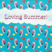 Backyard Summer Loving 4x4 Journal Card