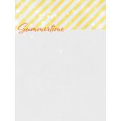 Backyard Summer Summertime 3x4 Journal Card