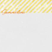 Backyard Summer Summertime 4x4 Journal Card