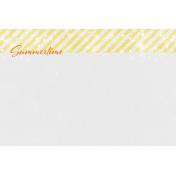 Backyard Summer Summertime 4x6 Journal Card