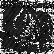 Garden Notes Dark Cabbage Stamp