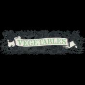 Garden Notes Dark Vegetable Banner 2