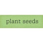 Garden Notes Seeds Word Art
