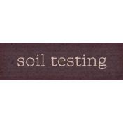 Garden Notes Soil Word Art