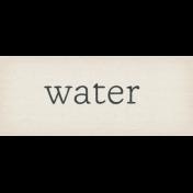 Garden Notes Water Word Art
