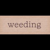 Garden Notes Weeding Word Art