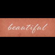 Classy Word Art Snippet Beautiful