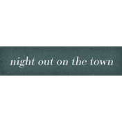 Classy Word Art Snippet Town